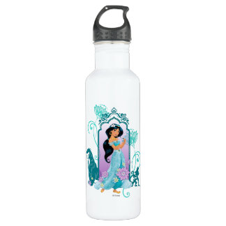 Princess Jasmine,  Rajah & Abu Floral 710 Ml Water Bottle