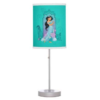 Princess Jasmine,  Rajah & Abu Floral Desk Lamp