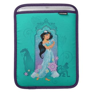 Princess Jasmine,  Rajah & Abu Floral iPad Sleeve
