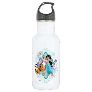 Princess Jasmine & Rajah Floral 532 Ml Water Bottle