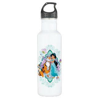 Princess Jasmine & Rajah Floral 710 Ml Water Bottle