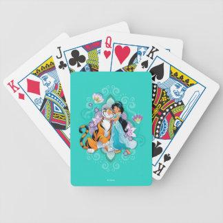 Princess Jasmine & Rajah Floral Bicycle Playing Cards