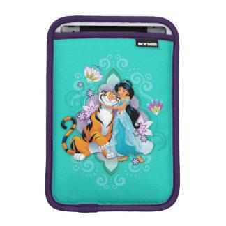 Princess Jasmine & Rajah Floral iPad Mini Sleeve