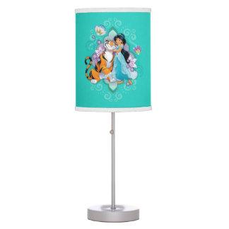Princess Jasmine & Rajah Floral Table Lamp