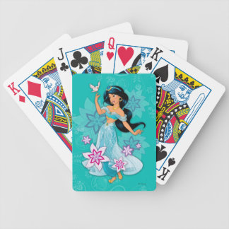 Princess Jasmine with Bird Floral Bicycle Playing Cards