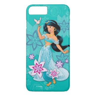 Princess Jasmine with Bird Floral iPhone 8 Plus/7 Plus Case