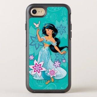 Princess Jasmine with Bird Floral OtterBox Symmetry iPhone 8/7 Case