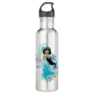 Princess Jasmine with Feathers & Flowers 710 Ml Water Bottle