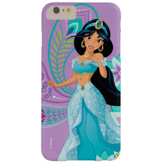 Princess Jasmine with Feathers & Flowers Barely There iPhone 6 Plus Case