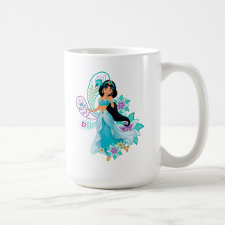 Princess Jasmine with Feathers & Flowers Coffee Mug