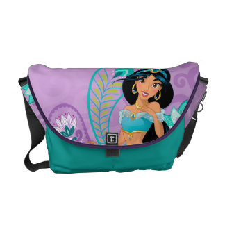 Princess Jasmine with Feathers & Flowers Courier Bag