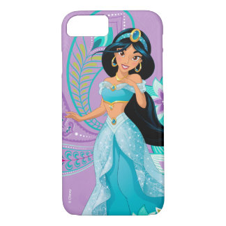 Princess Jasmine with Feathers & Flowers iPhone 8/7 Case