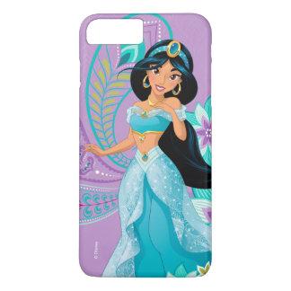 Princess Jasmine with Feathers & Flowers iPhone 8 Plus/7 Plus Case