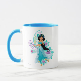 Princess Jasmine with Feathers & Flowers Mug