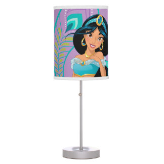 Princess Jasmine with Feathers & Flowers Table Lamp