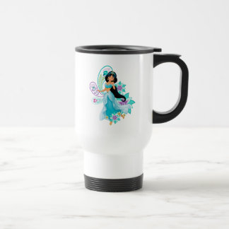 Princess Jasmine with Feathers & Flowers Travel Mug