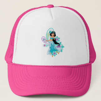 Princess Jasmine with Feathers & Flowers Trucker Hat