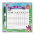 Princess Job Chart Dry Erase Board