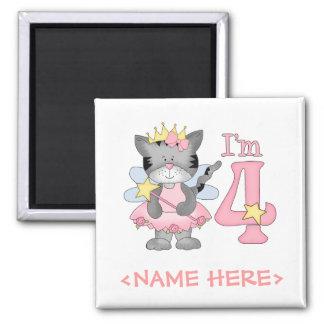 Princess Kitty 4th Birthday Magnet
