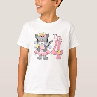Princess Kitty 4th Birthday T-Shirt