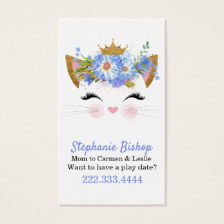 Princess Kitty Mommy Play Date Card