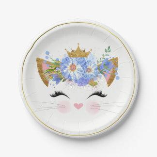 Princess Kitty Paper Plate