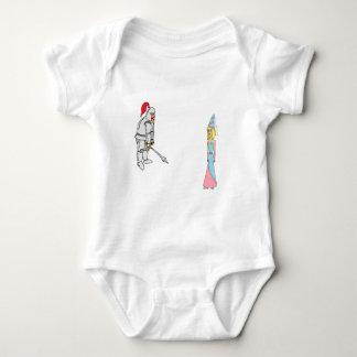 Princess & Knight (plain background) Baby Bodysuit