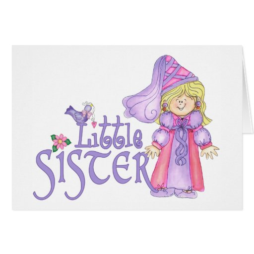 Princess Little Sister Greeting Cards