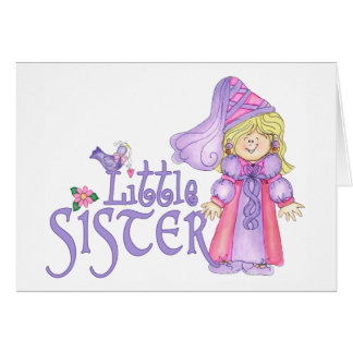 Princess Little Sister Note Card