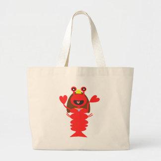 Princess Lobster Large Tote Bag
