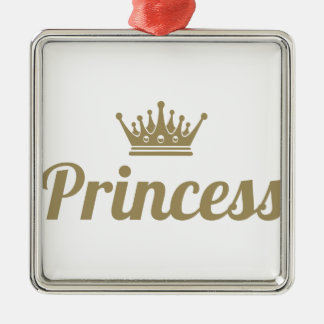 Princess Metal Ornament