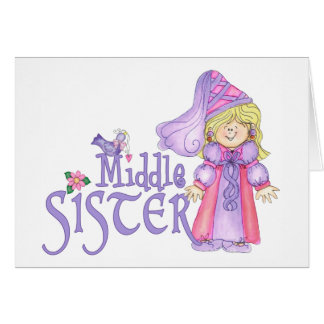 Princess Middle Sister Note Card