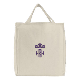 Princess Monogram Tote Embroidered Bags