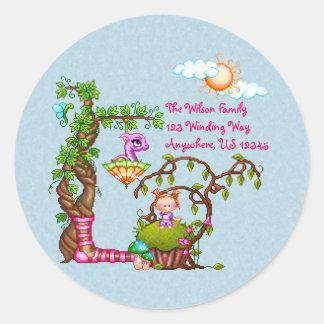 Princess Muffin & Friends Pixel Art Classic Round Sticker