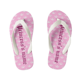 Princess… name of the young girl kid's flip flops