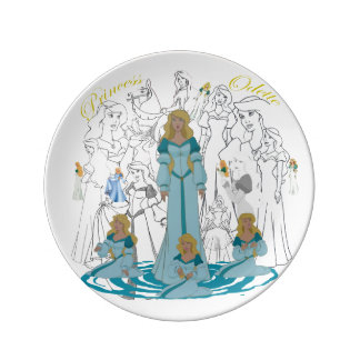 "Princess Odette Porcelain Sketch Plate (8.5"")"
