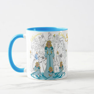 Princess Odette Sketch Mug with Colored Rim&Handle