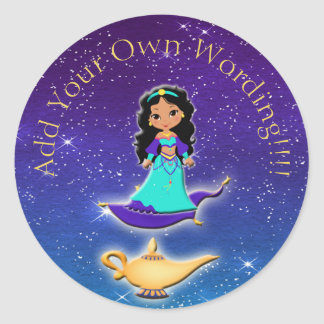 Princess of Arabian Nights Genie Magical Stickers