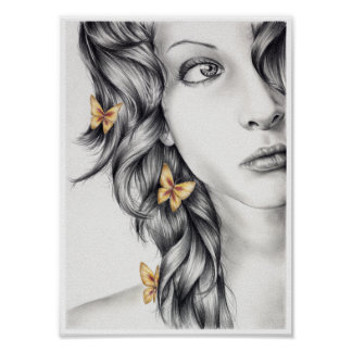 Princess of Butterflies Posters