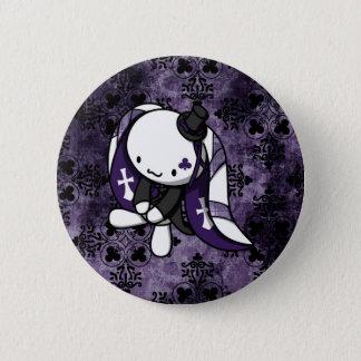 Princess of Clubs White Rabbit 2 Inch Round Button