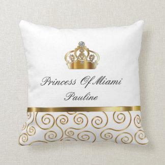 Princess Of Miami Throw Pillow