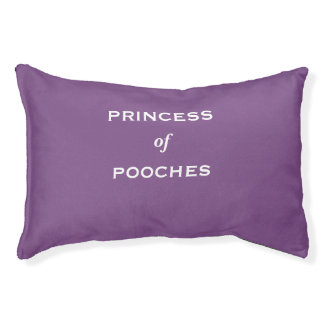 Princess of Pooches Special Funny Female Dog Name Pet Bed