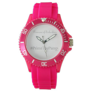 Princess of Suburbia ® # Prime The Pump (Pink) Watch
