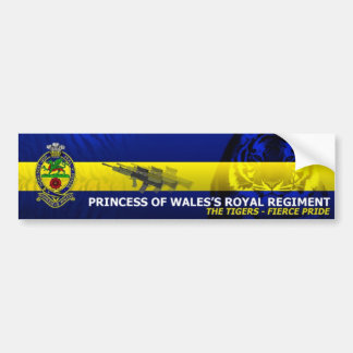 Princess of Wales's Royal Regiment - Car Sticker Bumper Sticker