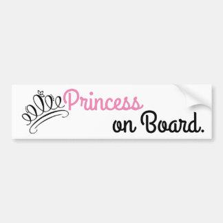 """""""Princess on Board"""" Bumper Sticker"""