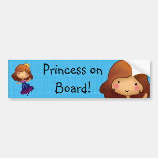 Princess on Board customisable sticker Bumper Sticker