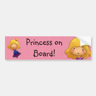 Princess on Board customisable sticker Bumper Sticker