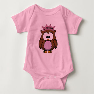princess owl baby bodysuit