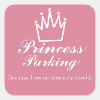 Princess parking square sticker