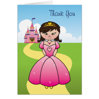 Princess Party Thank You Card